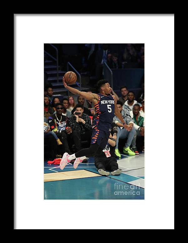 Nba Pro Basketball Framed Print featuring the photograph 2019 At&t Slam Dunk Contest by Joe Murphy