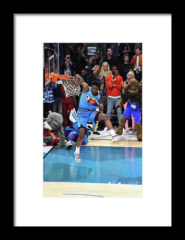 Nba Pro Basketball Framed Print featuring the photograph 2019 At&t Slam Dunk Contest by Juan Ocampo