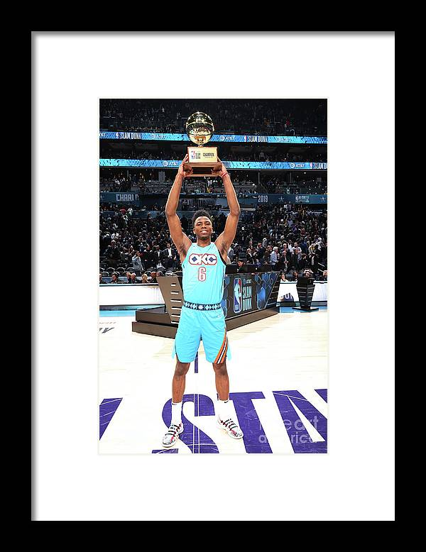 Nba Pro Basketball Framed Print featuring the photograph 2019 At&t Slam Dunk Contest by Nathaniel S. Butler