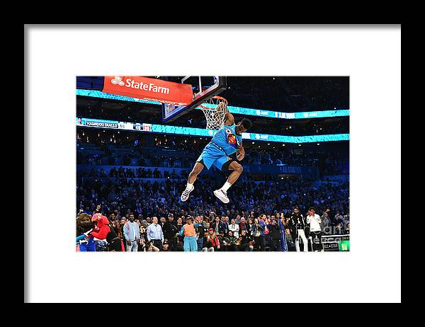 Nba Pro Basketball Framed Print featuring the photograph 2019 At&t Slam Dunk by Jesse D. Garrabrant