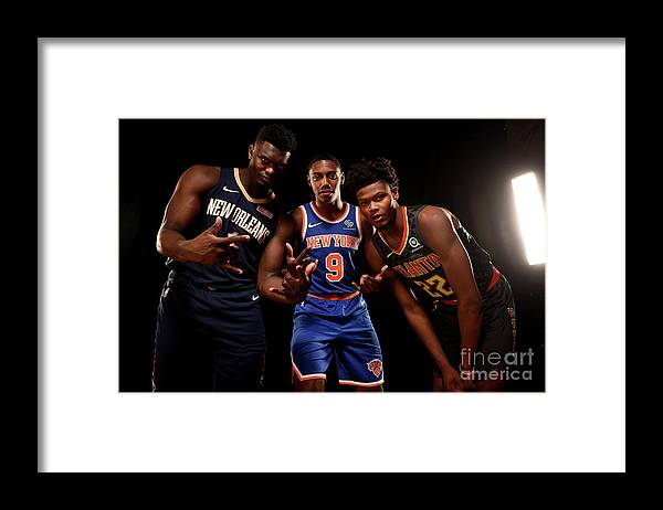 Nba Pro Basketball Framed Print featuring the photograph 2019 Nba Rookie Photo Shoot by Brian Babineau