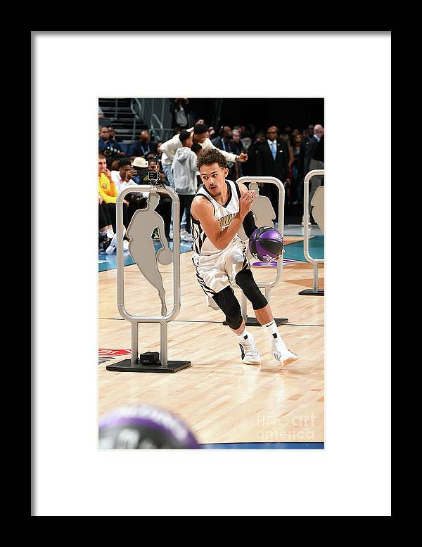 Nba Pro Basketball Framed Print featuring the photograph 2019 Taco Bell Skills Challenge by Andrew D. Bernstein