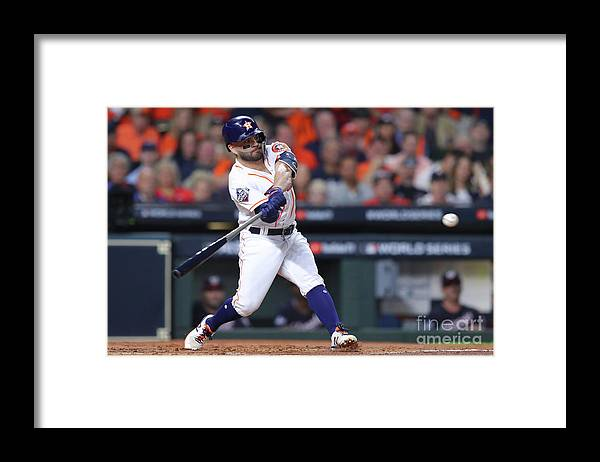 American League Baseball Framed Print featuring the photograph 2019 World Series Game 6 - Washington by Alex Trautwig