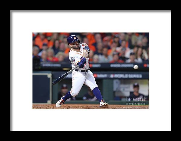 American League Baseball Framed Print featuring the photograph 2019 World Series Game 6 - Washington 2019 by Alex Trautwig