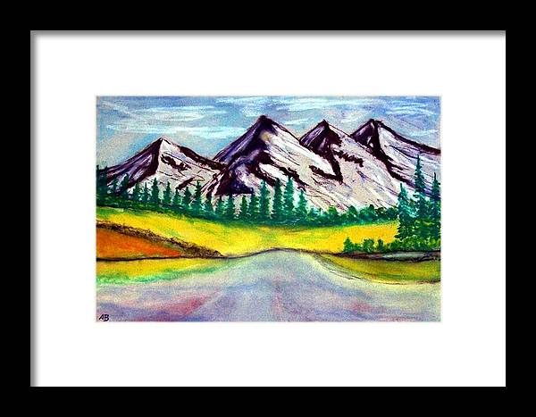 Pastel Painting Framed Print featuring the painting 2019#01_mountain Lake by Armin Behnert