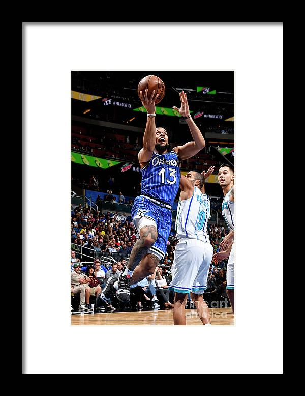 Nba Pro Basketball Framed Print featuring the photograph Charlotte Hornets V Orlando Magic by Fernando Medina