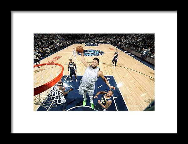 Nba Pro Basketball Framed Print featuring the photograph Denver Nuggets V Minnesota Timberwolves by David Sherman