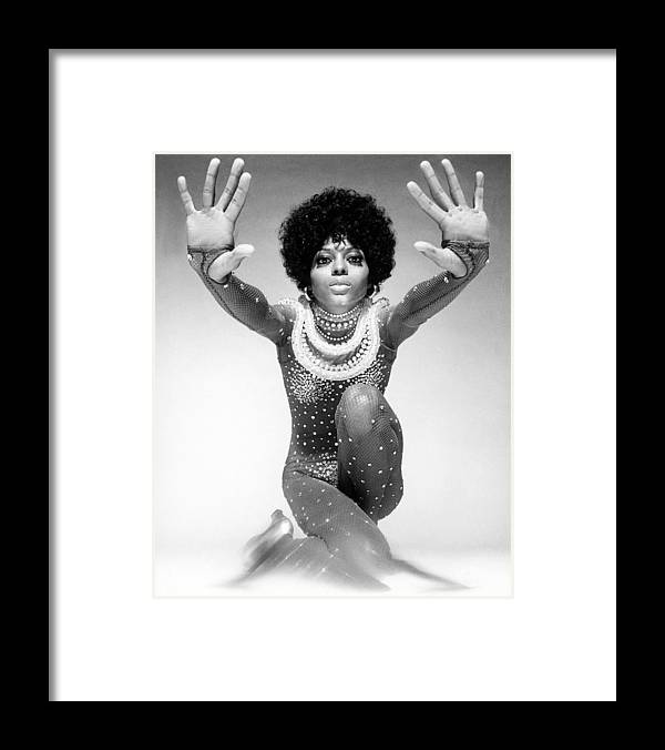 Event Framed Print featuring the photograph Diana Ross Portrait Session by Harry Langdon