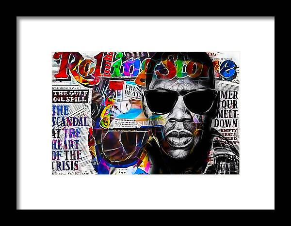 Jay Z Art Framed Print featuring the mixed media Jay Z Collection 21 by Marvin Blaine