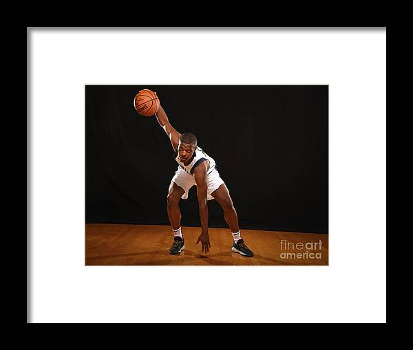 Nba Pro Basketball Framed Print featuring the photograph 2017 Nba Rookie Photo Shoot by Brian Babineau