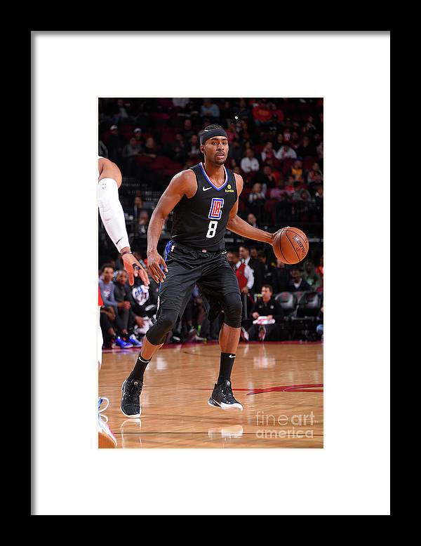 Moe Harkless Framed Print featuring the photograph La Clippers V Houston Rockets by Bill Baptist
