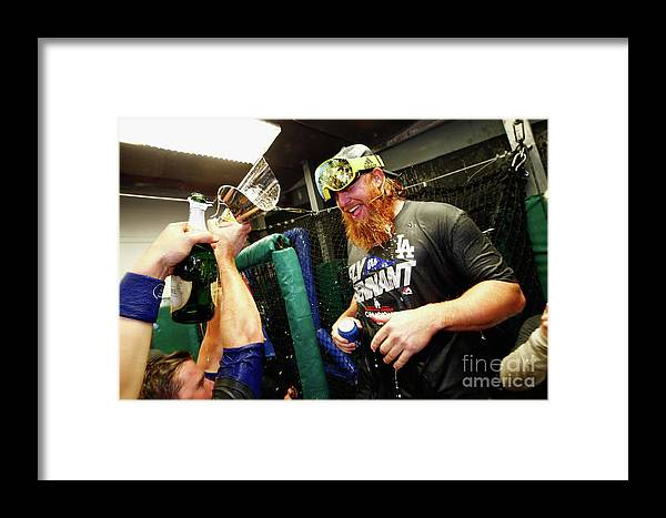 Championship Framed Print featuring the photograph League Championship Series - Los 22 by Jamie Squire