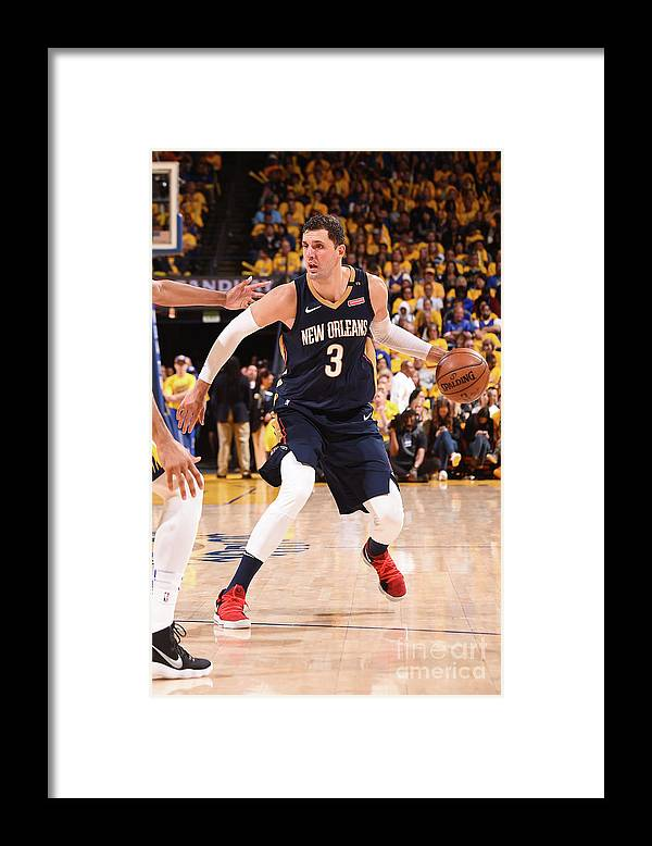 Playoffs Framed Print featuring the photograph New Orleans Pelicans V Golden State by Noah Graham