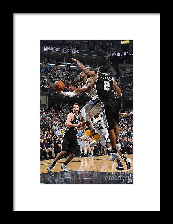 Playoffs Framed Print featuring the photograph San Antonio Spurs V Memphis Grizzlies - by Joe Murphy