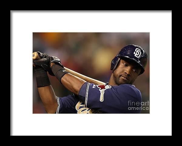 Tony Gwynn Jr. Framed Print featuring the photograph San Diego Padres V Arizona Diamondbacks by Christian Petersen