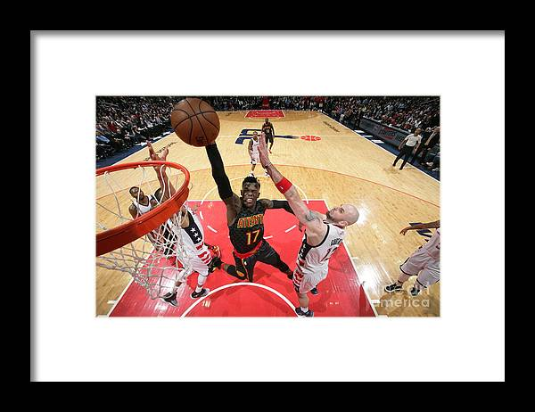 Playoffs Framed Print featuring the photograph Atlanta Hawks V Washington Wizards by Ned Dishman