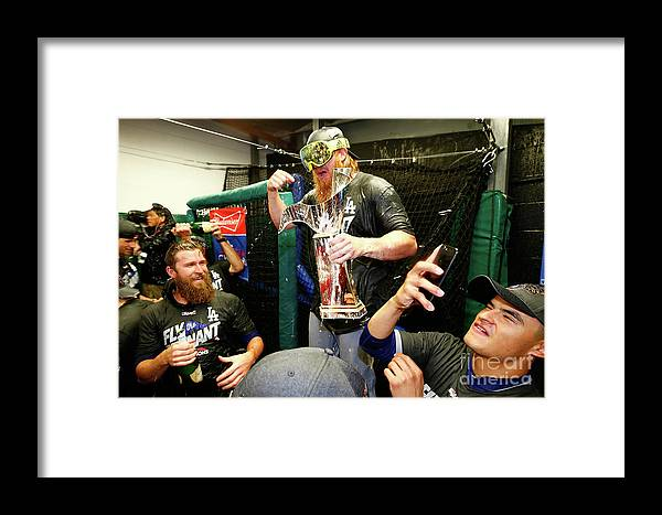 Championship Framed Print featuring the photograph League Championship Series - Los 23 by Jamie Squire