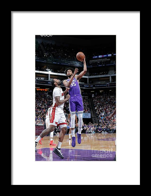 Nba Pro Basketball Framed Print featuring the photograph Miami Heat V Sacramento Kings by Rocky Widner