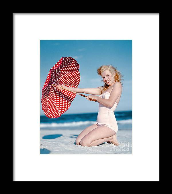 People Framed Print featuring the photograph Portrait Of Marilyn Monroe by Andre De Dienes