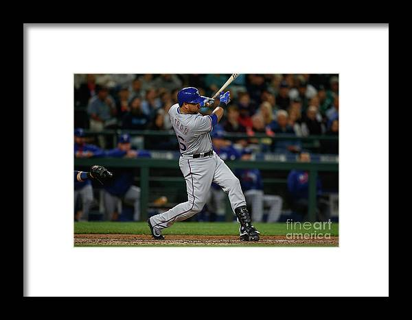 Second Inning Framed Print featuring the photograph Texas Rangers V Seattle Mariners 23 by Otto Greule Jr