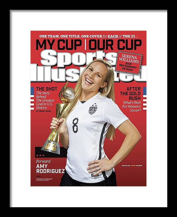 Amy Rodriguez Framed Print featuring the photograph Us Womens National Team 2015 Fifa Womens World Cup Champions Sports Illustrated Cover by Sports Illustrated