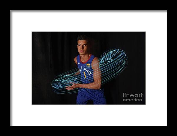Nba Pro Basketball Framed Print featuring the photograph 2018 Nba Rookie Photo Shoot by Brian Babineau