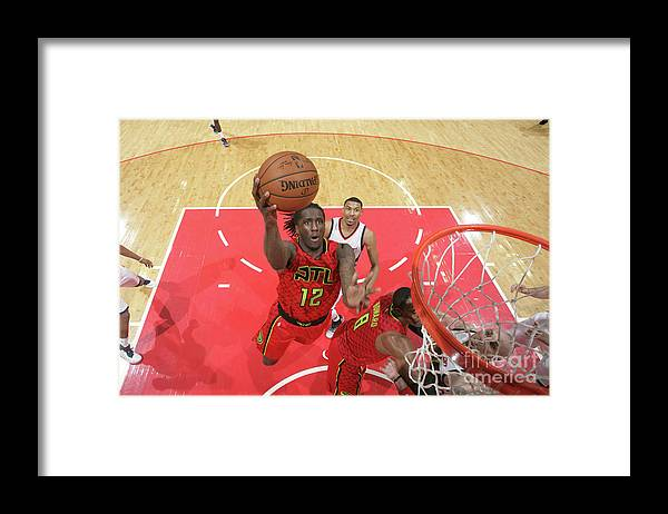 Playoffs Framed Print featuring the photograph Atlanta Hawks V Washington Wizards - by Ned Dishman