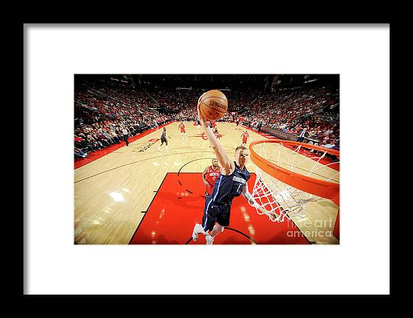 Nba Pro Basketball Framed Print featuring the photograph Dallas Mavericks V Houston Rockets by Bill Baptist