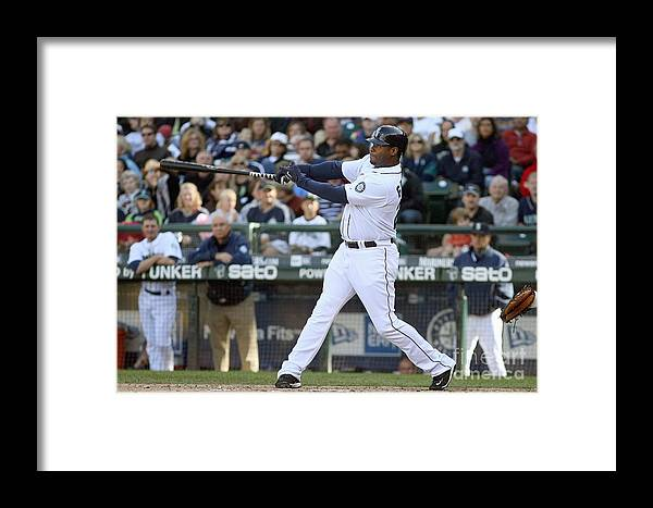 American League Baseball Framed Print featuring the photograph New York Yankees V Seattle Mariners by Otto Greule Jr