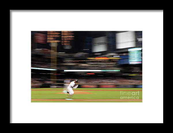 American League Baseball Framed Print featuring the photograph San Diego Padres V Arizona Diamondbacks by Christian Petersen