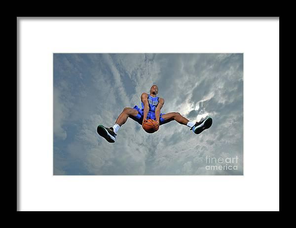 Nba Pro Basketball Framed Print featuring the photograph 2017 Nba Rookie Photo Shoot by Jesse D. Garrabrant