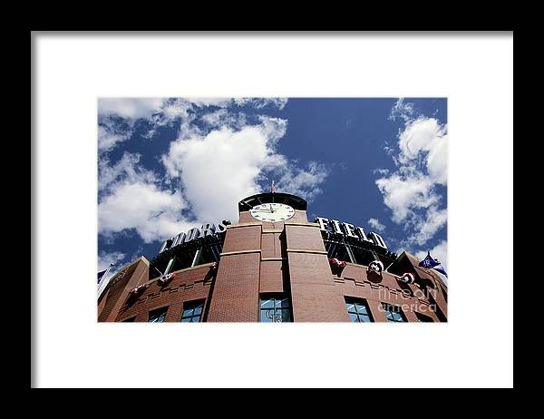 Opening Ceremony Framed Print featuring the photograph Arizona Diamondbacks V Colorado Rockies by Doug Pensinger