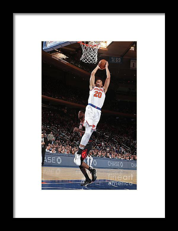 Nba Pro Basketball Framed Print featuring the photograph Chicago Bulls V New York Knicks by Nathaniel S. Butler