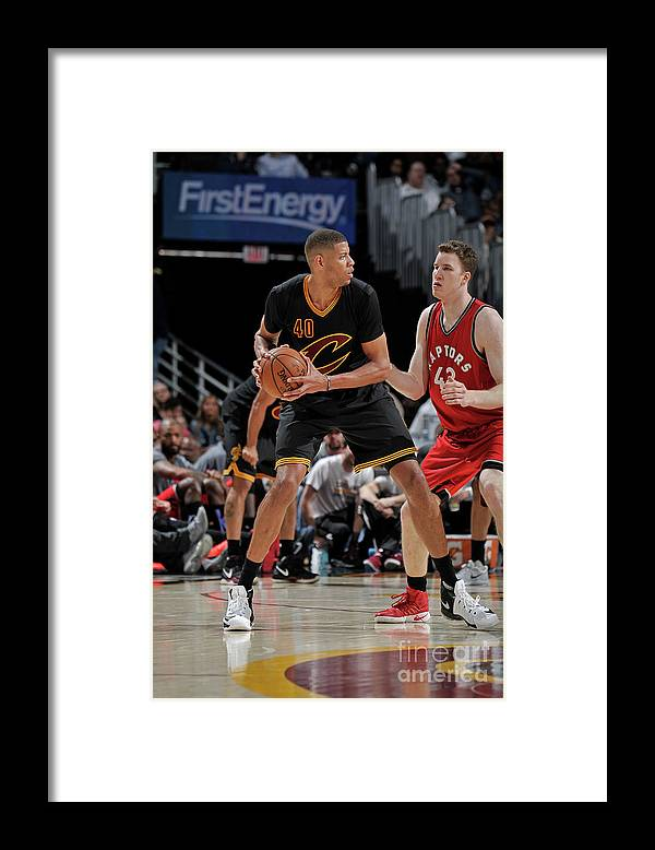 Nba Pro Basketball Framed Print featuring the photograph Toronto Raptors V Cleveland Cavaliers by David Liam Kyle