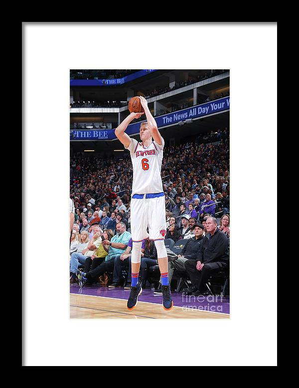 Nba Pro Basketball Framed Print featuring the photograph New York Knicks V Sacramento Kings by Rocky Widner