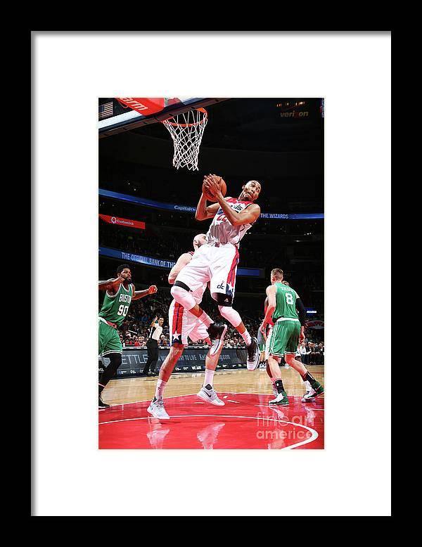 Nba Pro Basketball Framed Print featuring the photograph Boston Celtics V Washington Wizards by Ned Dishman