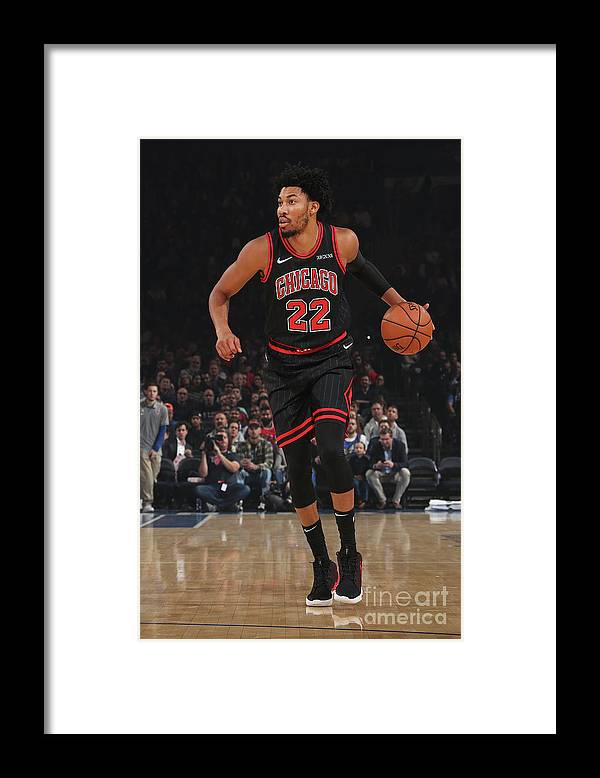 Chicago Bulls Framed Print featuring the photograph Chicago Bulls V New York Knicks by Nathaniel S. Butler