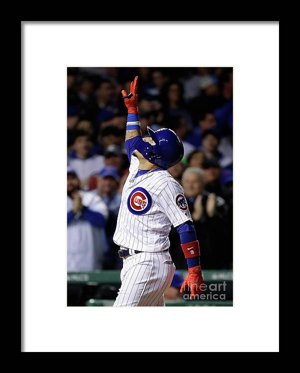 Three Quarter Length Framed Print featuring the photograph League Championship Series - Los by Jamie Squire