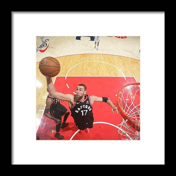 Nba Pro Basketball Framed Print featuring the photograph Toronto Raptors V Washington Wizards by Ned Dishman