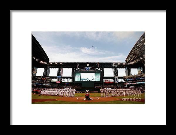 Basketball Team Framed Print featuring the photograph Colorado Rockies V Arizona Diamondbacks by Christian Petersen