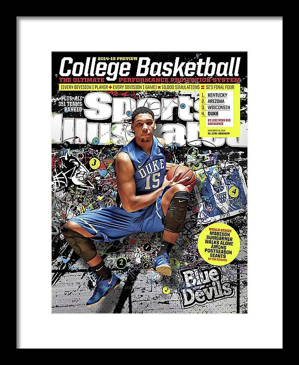 Magazine Cover Framed Print featuring the photograph 2014-15 College Basketball Preview Issue Sports Illustrated Cover by Sports Illustrated