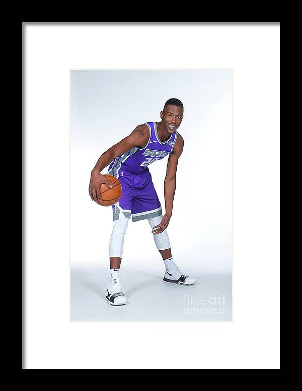 Media Day Framed Print featuring the photograph 2017-18 Sacramento Kings Media Day by Rocky Widner