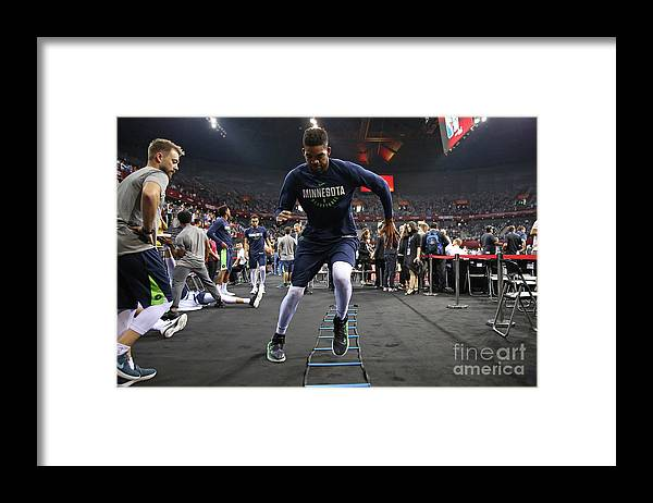 Event Framed Print featuring the photograph 2017 Nba Global Games China Minnesota by David Sherman