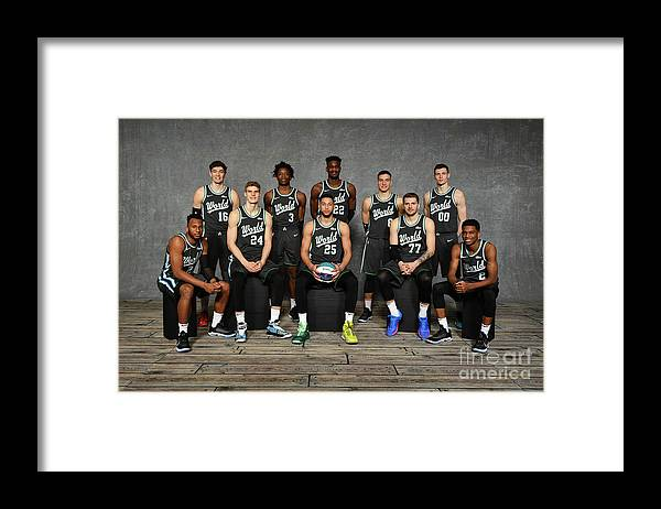 Nba Pro Basketball Framed Print featuring the photograph 2019 Mtn Dew Ice Rising Stars by Jesse D. Garrabrant