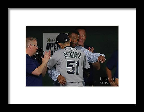 International Match Framed Print featuring the photograph 2019 Opening Series Oakland Athletics 3 by Alex Trautwig