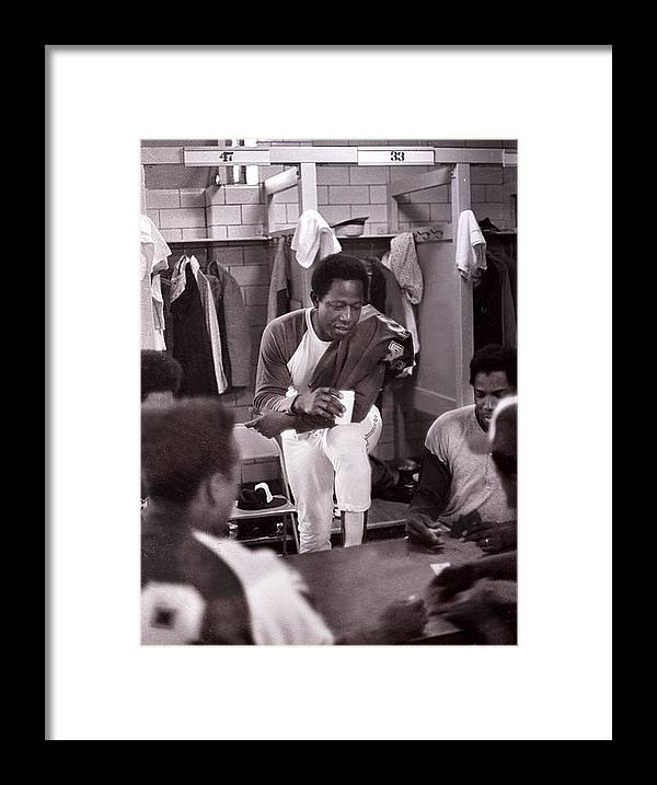 American League Baseball Framed Print featuring the photograph Atlanta Braves 3 by Ronald C. Modra/sports Imagery