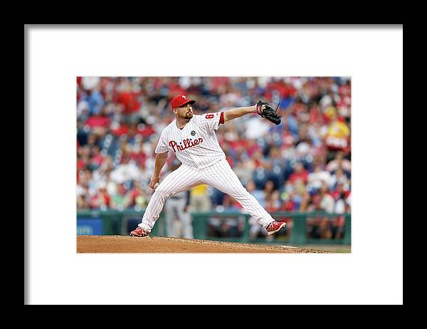 Citizens Bank Park Framed Print featuring the photograph Atlanta Braves V Philadelphia Phillies by Brian Garfinkel