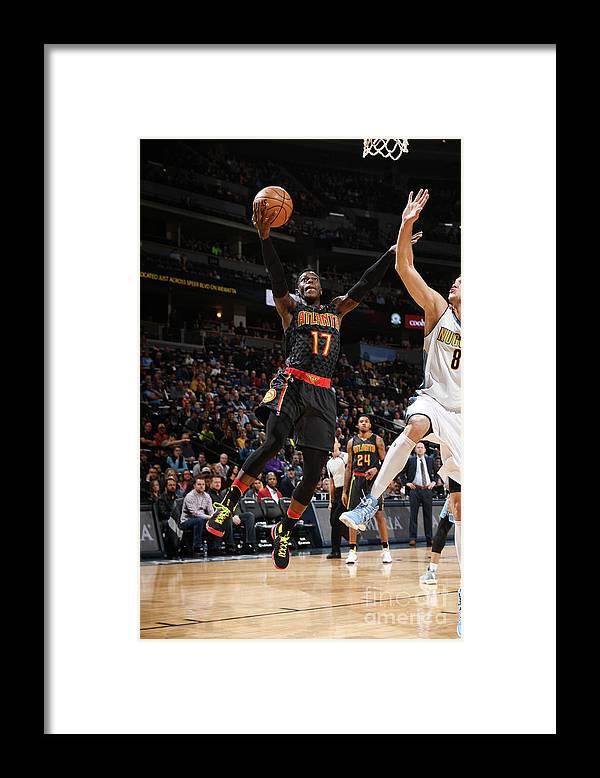 Nba Pro Basketball Framed Print featuring the photograph Atlanta Hawks V Denver Nuggets by Garrett Ellwood