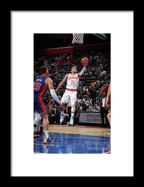 Nba Pro Basketball Framed Print featuring the photograph Atlanta Hawks V Detroit Pistons by Brian Sevald