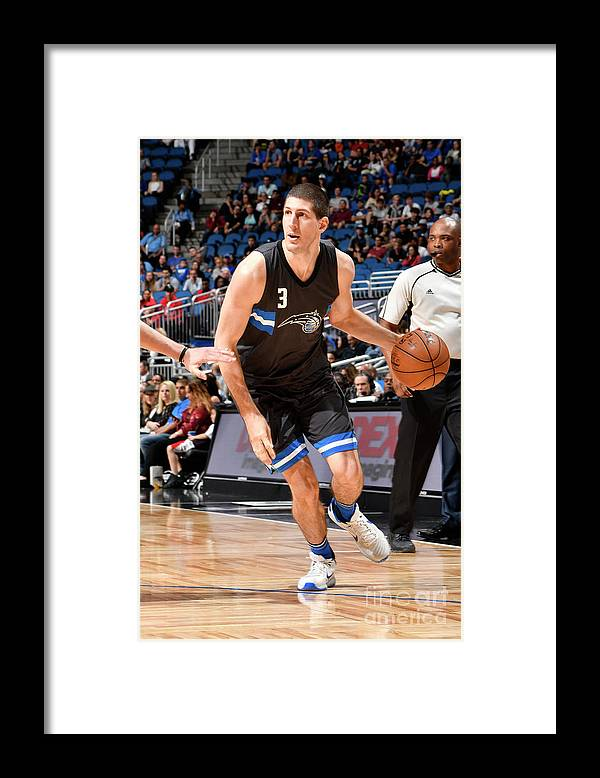 Nba Pro Basketball Framed Print featuring the photograph Atlanta Hawks V Orlando Magic by Fernando Medina